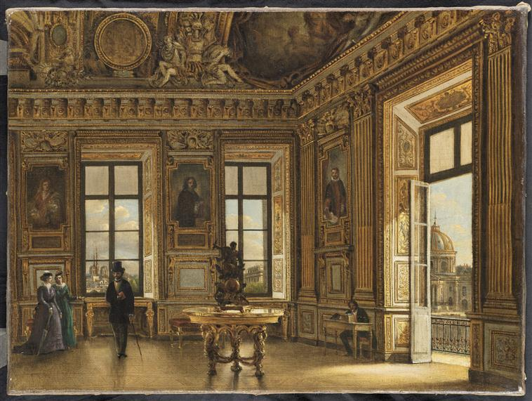 Décor de la Galerie d'Apollon au Louvre 16-532023