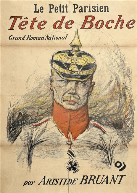 Tête de Boche. Grand Roman national. La date de création varie selon les sources : 1914 ou 1915. Auteur : Bruant Aristide (1851-1925).