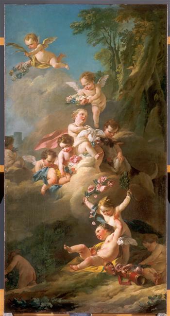 amours - La tenture des Amours des dieux au MBA d'Angers 02-001057