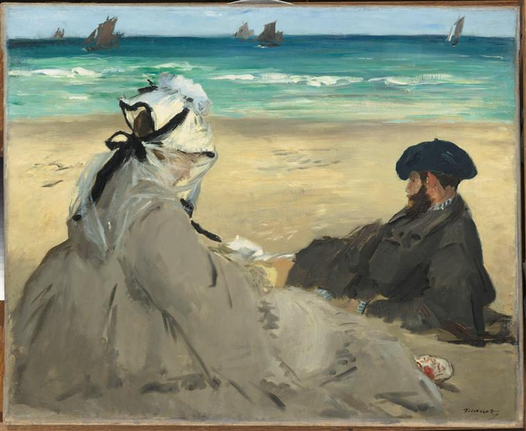 Edouard Manet's painting On the Beach
