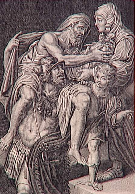 Anchise, amant de Vénus et père de Enée 99-023355