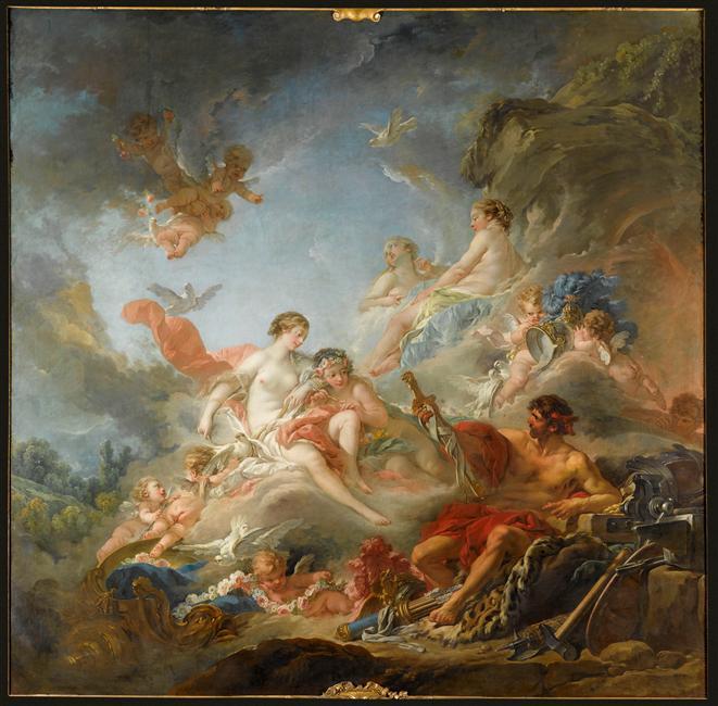 amours - La tenture des Amours des dieux au MBA d'Angers 08-522115