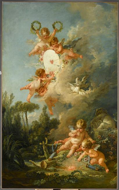 amours - La tenture des Amours des dieux au MBA d'Angers 08-524841